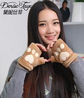 Молодежные теплые перчатки