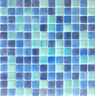 Микс из мозаики в сине-голубых оттенках Vivacer VPMIX2