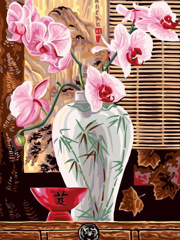 Картина по номерам Восточные орхидеи, 30x40 см., Babylon