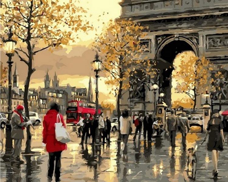 Картина по номерам Вечерний Лондон. Худ. Ричард Макнейл, 40x50 см., Babylon