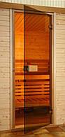 Стеклянные двери Saunax Classic 79x209 (бронза)