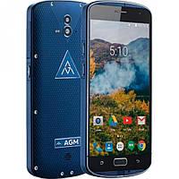 """Смартфон AGM X1 4/64Gb Blue IP68, 13+13/5Мп, 8 ядер, 2sim, 5.5"""" AMOLED, 5400mAh, 4G"""