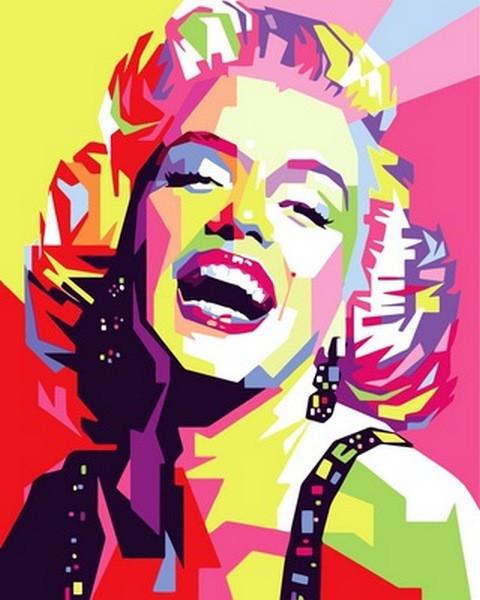 Картина по номерам Улыбка Мерлин Монро, 40x50 см., Babylon
