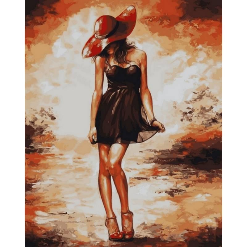 Картина по номерам  Черное платьице , 40x50 см., Babylon