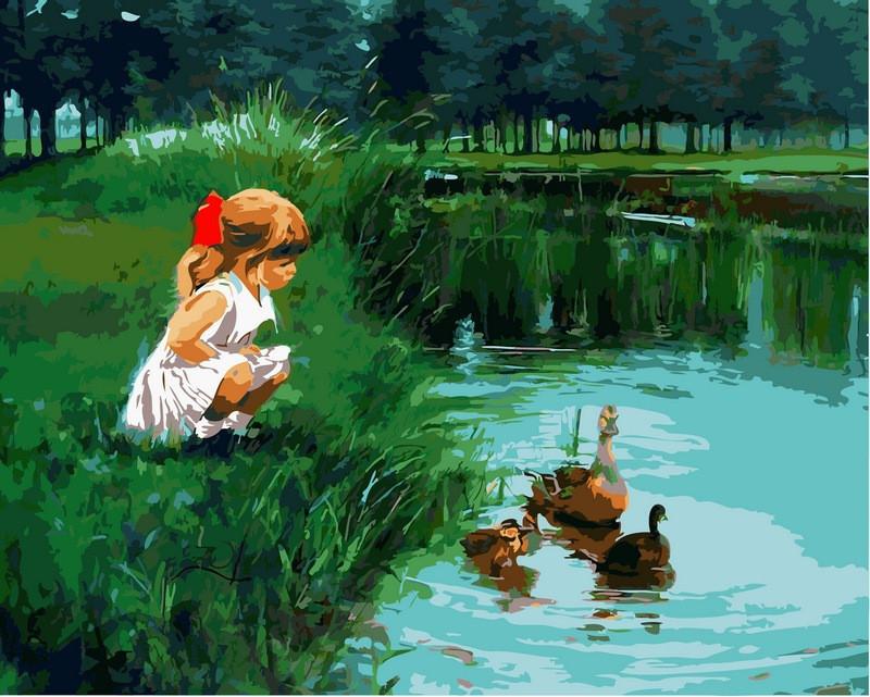 Картина по номерам Деревенское лето. Худ. Александр Воля, 40x50 см., Babylon