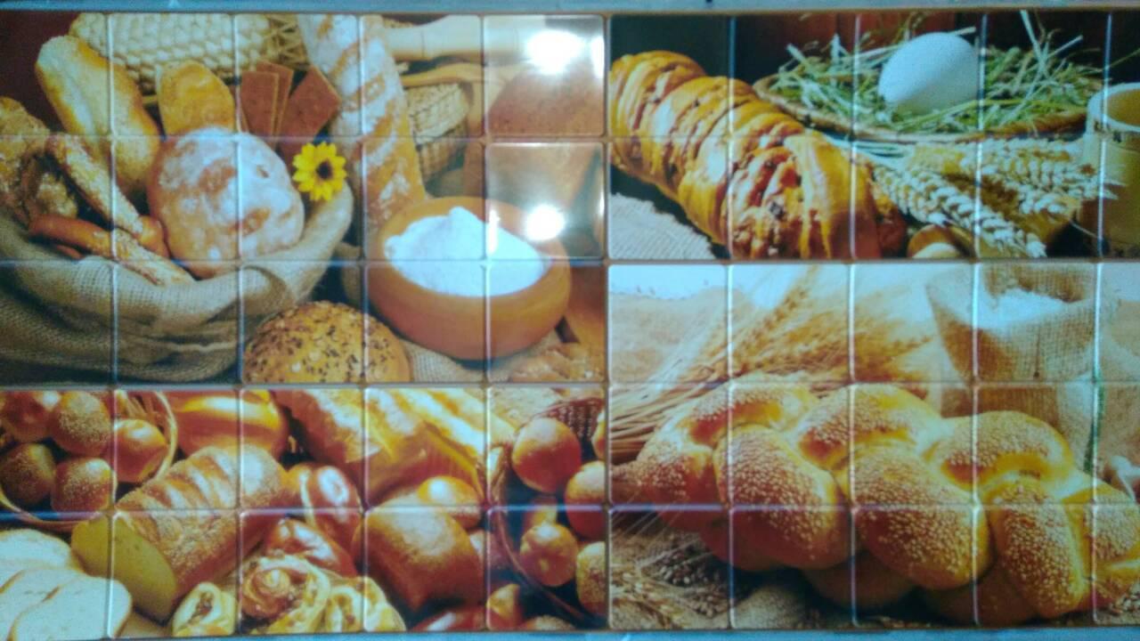 Пластикова листова стінова панель ПВХ Грейс Grace Хлібний будинок 0,3мм 955*480 мм