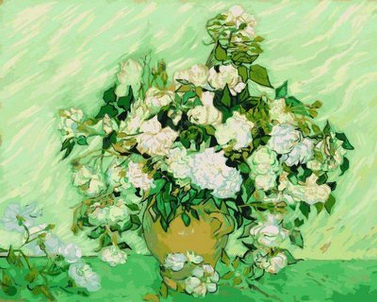 Картина по номерам Ваза с розами, 40x50 см., Babylon