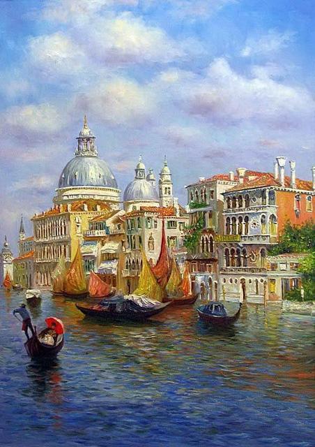 Картина по номерам Лазурь Венеции, 40x50 см., Babylon