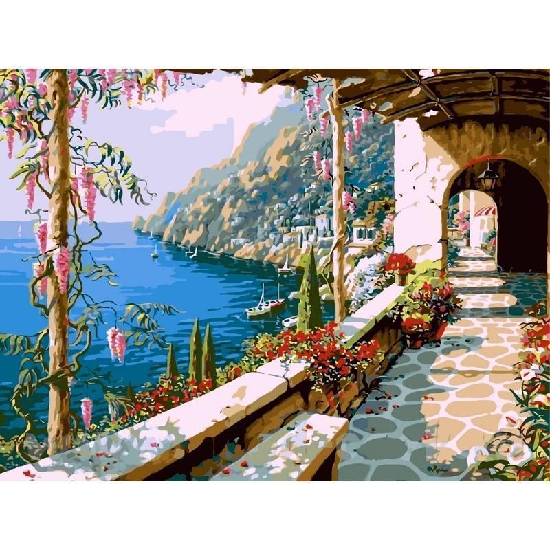Картина по номерам Вилла на Капри. Худ. Боб Пейман, 40x50 см., Babylon