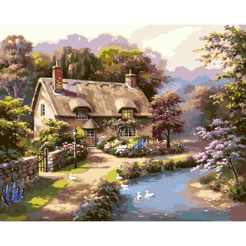Картина по номерам Лето в деревне, 40x50 см., Babylon