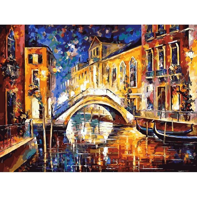 Картина по номерам VP065 Ночь в Венеции. Худ. Леонид Афремов, 40x50 см., Babylon