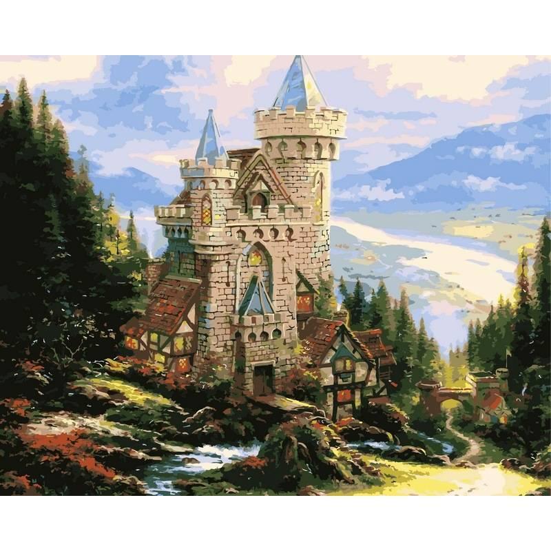 Картина по номерам Старинный замок, 40x50 см., Babylon