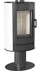 Опалювальна піч Kratki Koza AB S/N (8 кВт) білий кахель