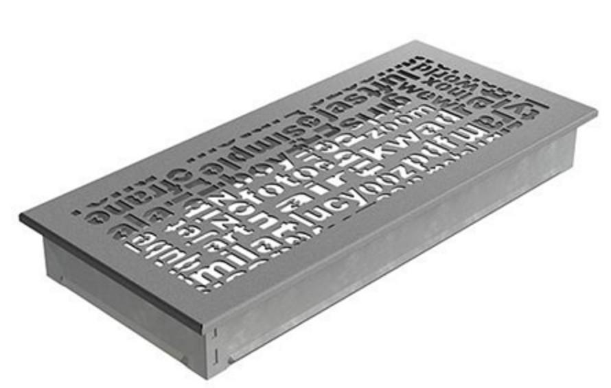 Решетка Kratki ABC 17х37