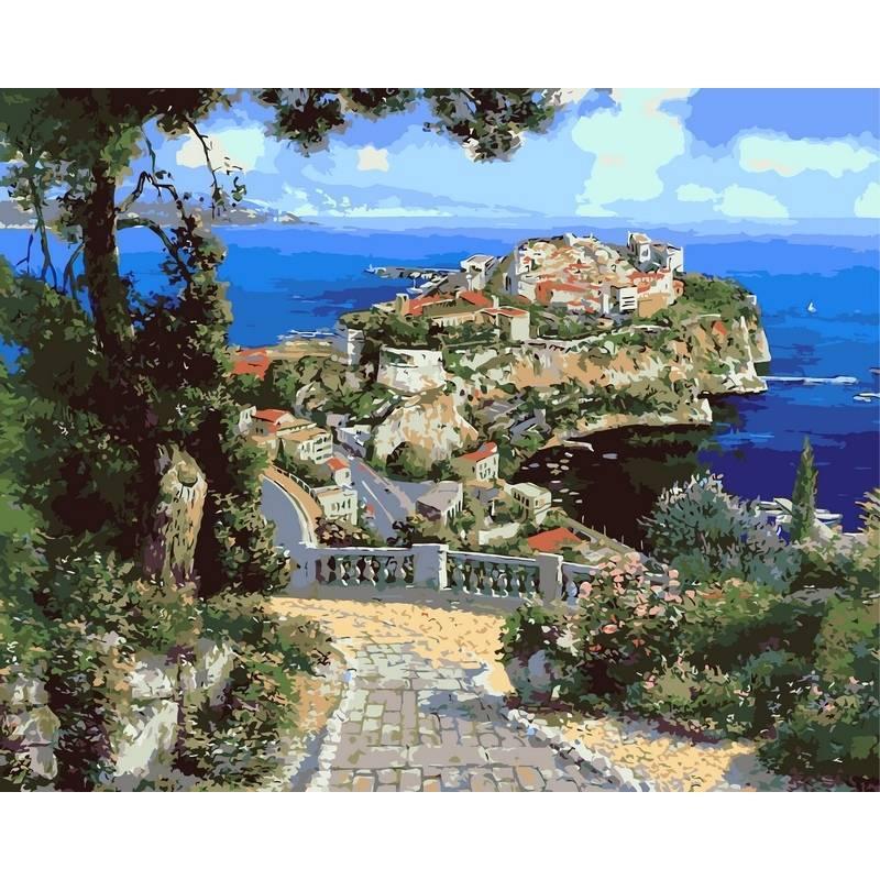 Картина по номерам Дворец Де Монако, 40x50 см., Babylon