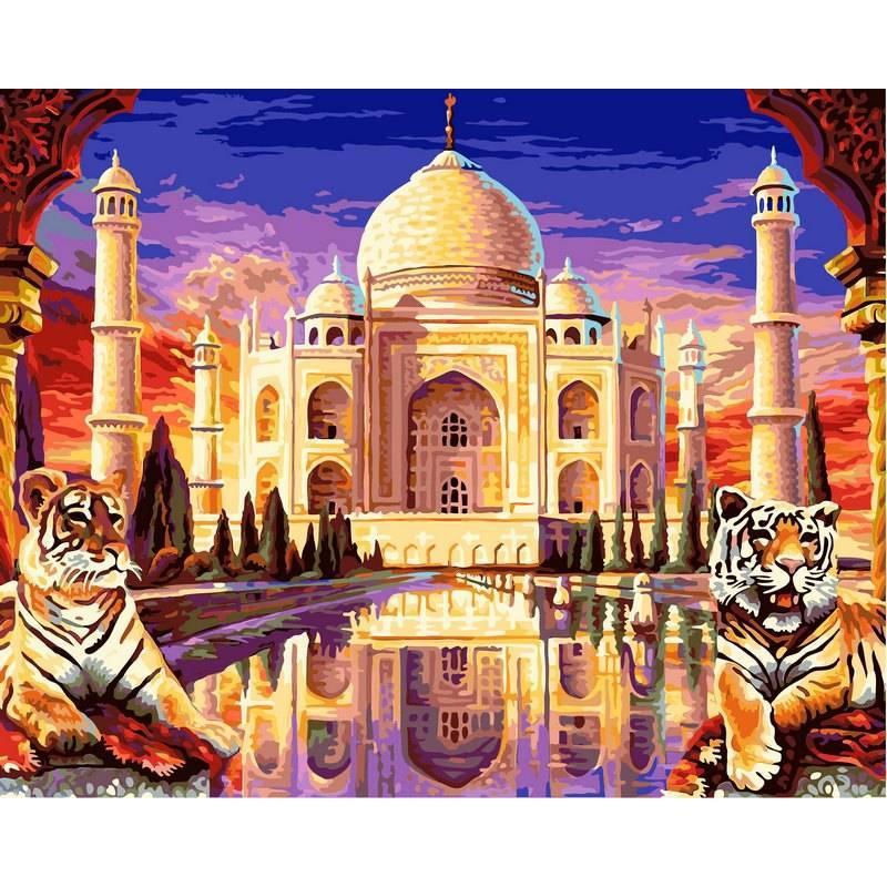 Картина по номерам  Тадж Махал, 40x50 см., Babylon