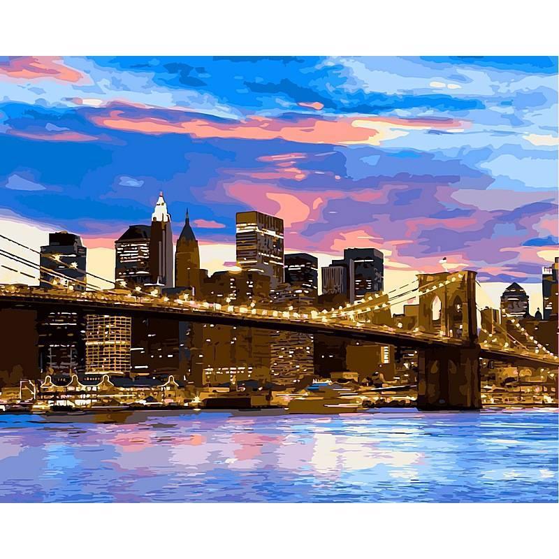 Картина по номерам Бруклинский мост, 40x50 см., Babylon