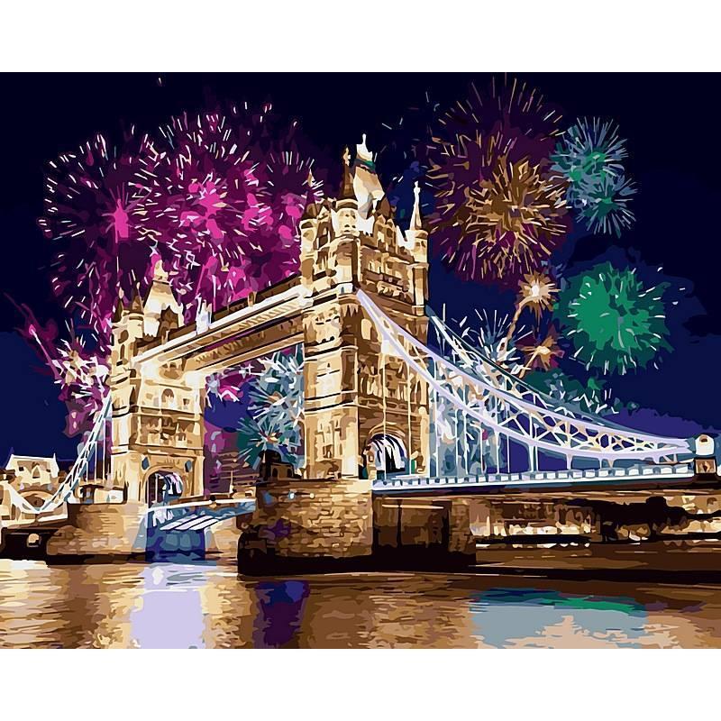 Картина по номерам Салют над Лондоном, 40x50 см., Babylon