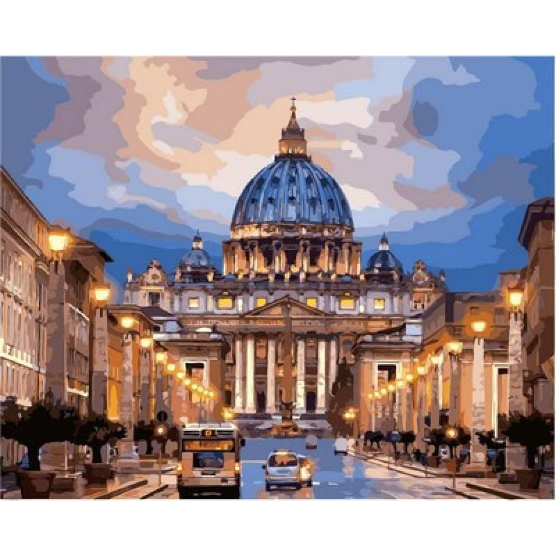 Картина по номерам  Рим Собор святого Петра, 40x50 см., Babylon