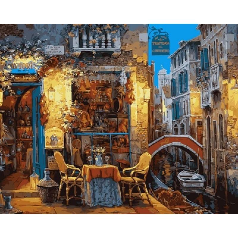 Картина по номерам  Венецианское кафе. Худ. Виктор Швайко, 40x50 см., Babylon