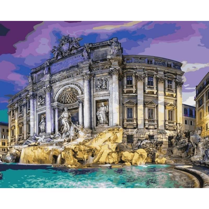 Картина по номерам  Фонтан Треви, 40x50 см., Babylon