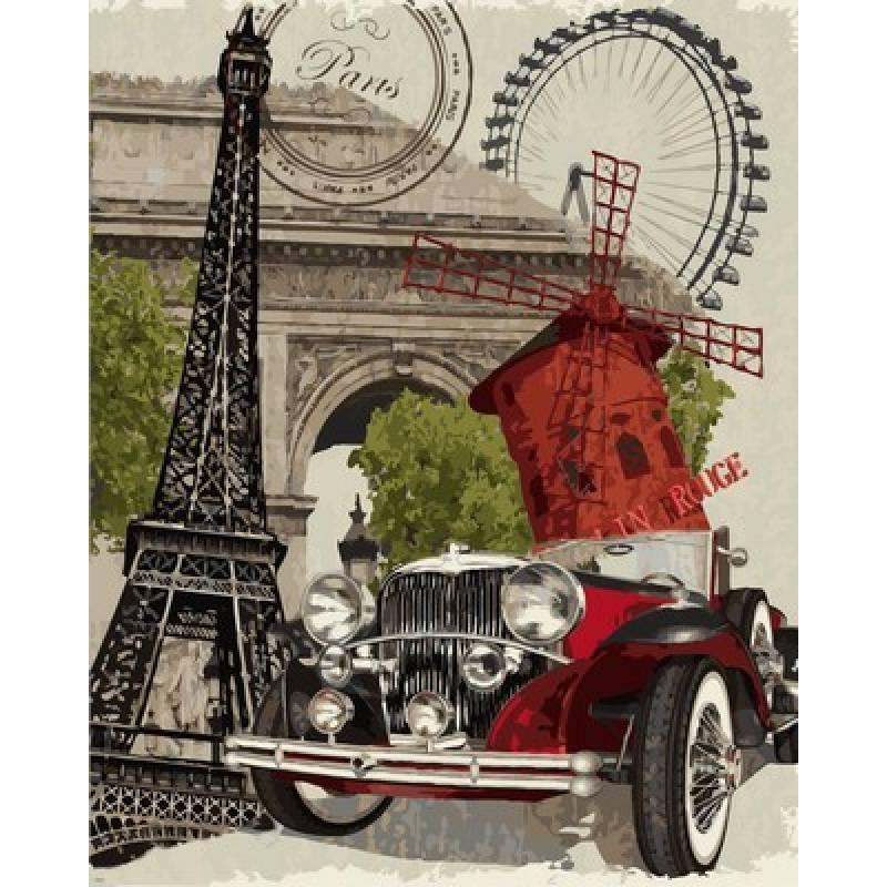 Картина по номерам Винтажная марка Франция, 40x50 см., Babylon