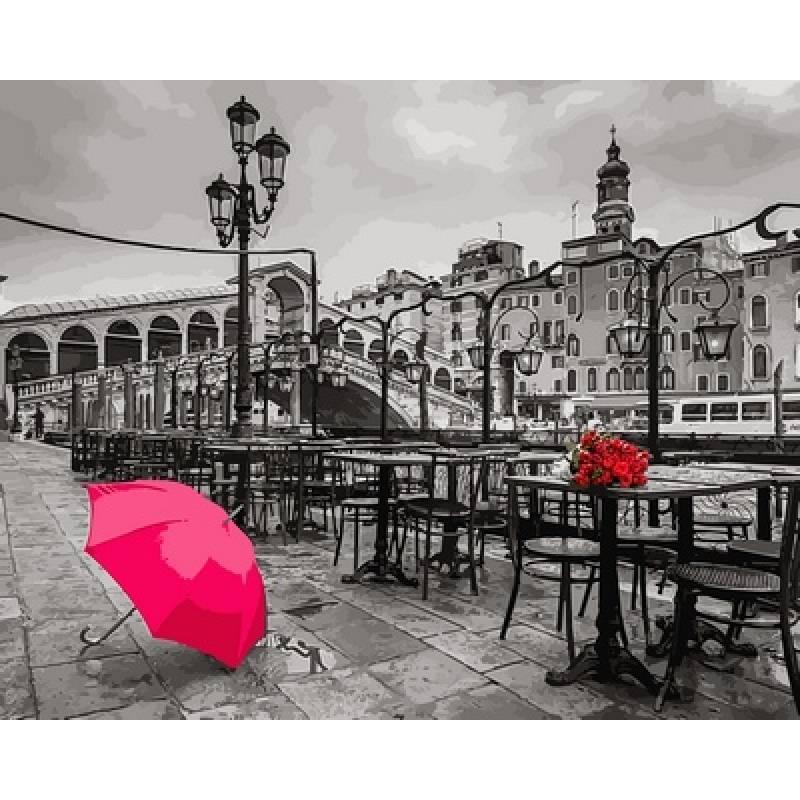 Картина по номерам Зонт на набережной. Фотохуд.Ассаф Франк, 40x50 см., Babylon