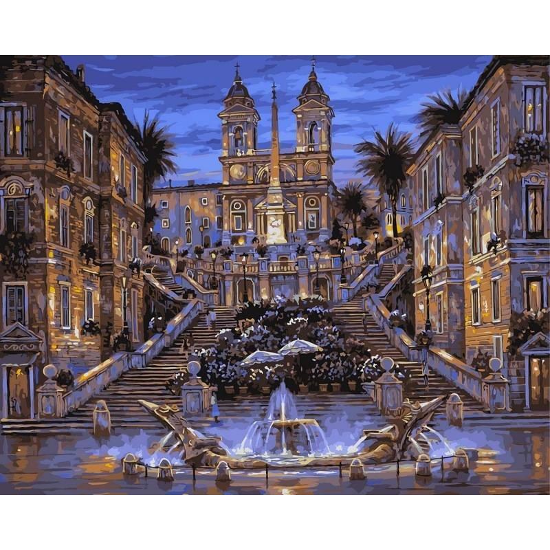 Картина по номерам Испанская лестница, 40x50 см., Babylon
