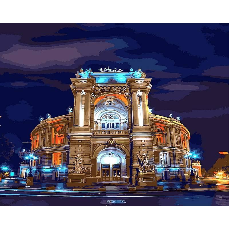 Картина по номерам Оперный театр Одесса, 40x50 см., Babylon