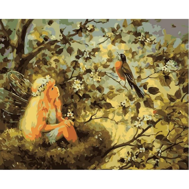 Картина по номерам Маленькая фея, 40x50 см., Babylon
