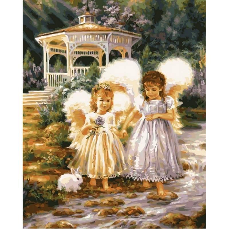 Картина по номерам Маленькие ангелы. Худ. Дона Гелсингер, 40x50 см., Babylon