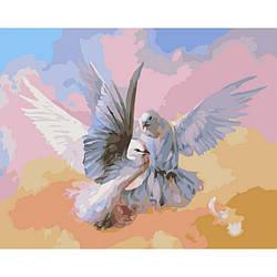 Картина за номерами SW007 Голуби. Худ. Роман Романов, 40x50 см., Babylon