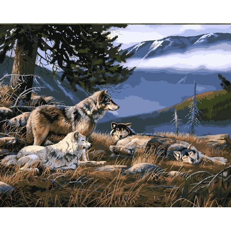 Картина по номерам Волчье убежище, 40x50 см., Babylon