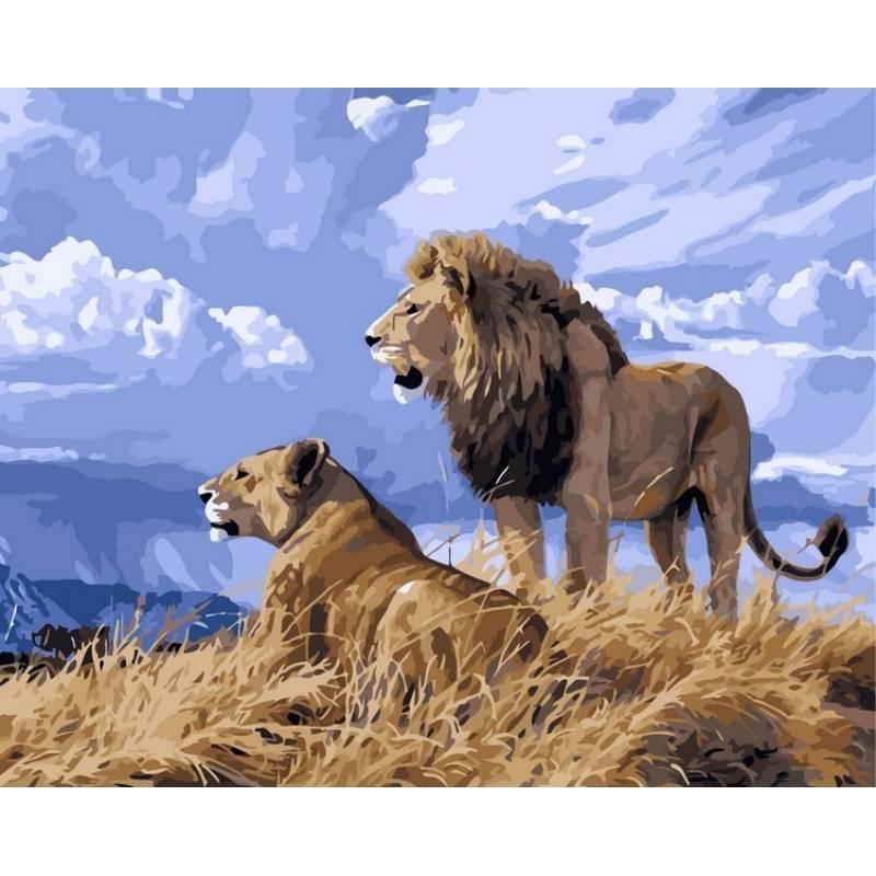 Картина по номерам Львиный прайд, 40x50 см., Babylon