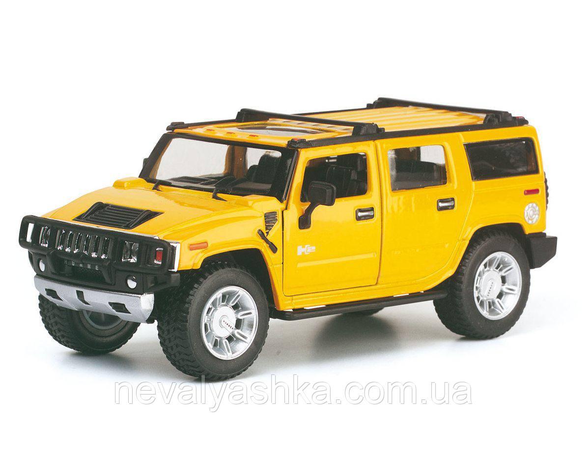 KINSMART БОЛЬШАЯ 16 см металлическая машинка Кинсмарт HUMMER H2 SUV 1:32, KT7006W, 008957