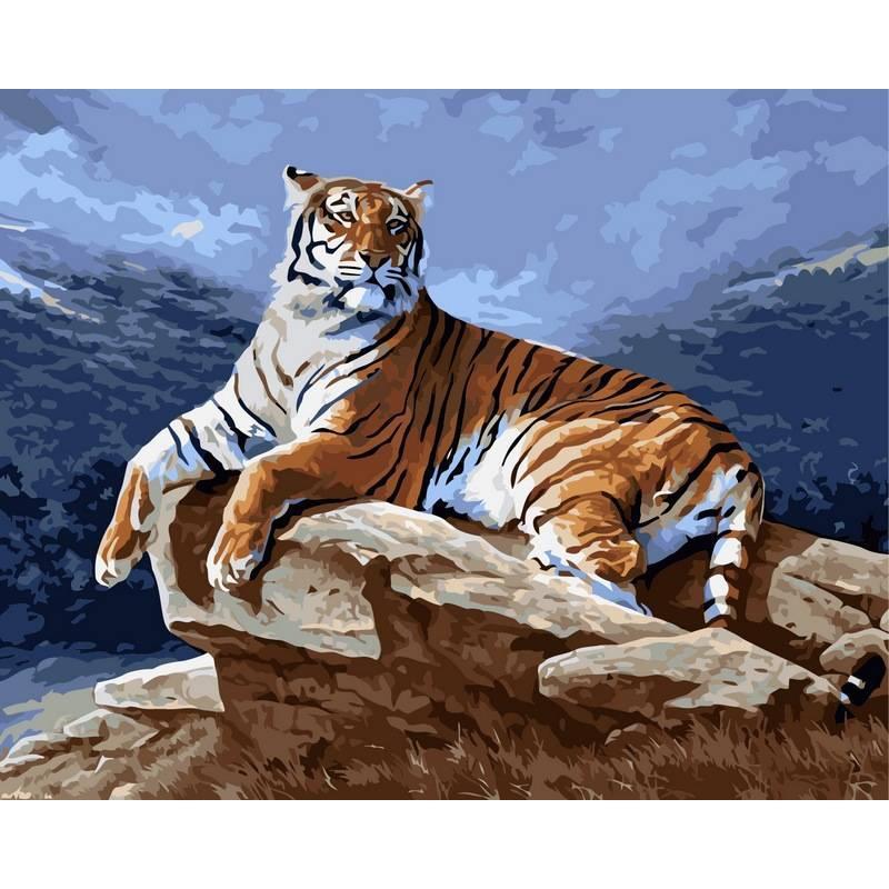 Картина по номерам Тигр на рассвете, 40x50 см., Babylon