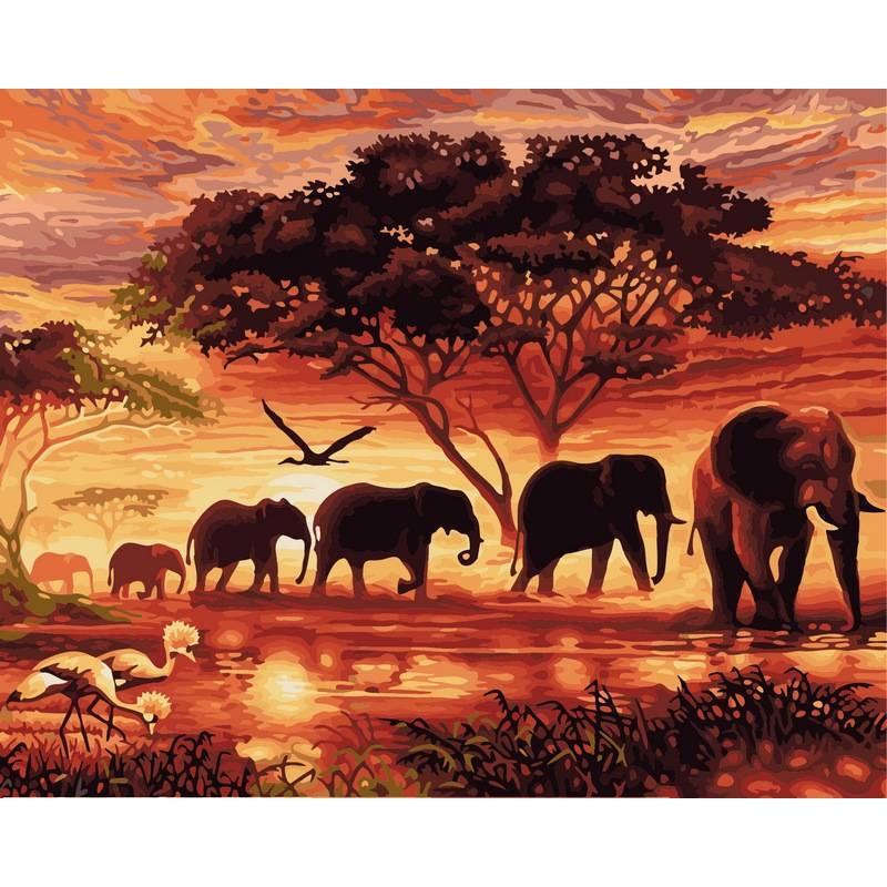 Картина по номерам Саванна, 40x50 см., Babylon