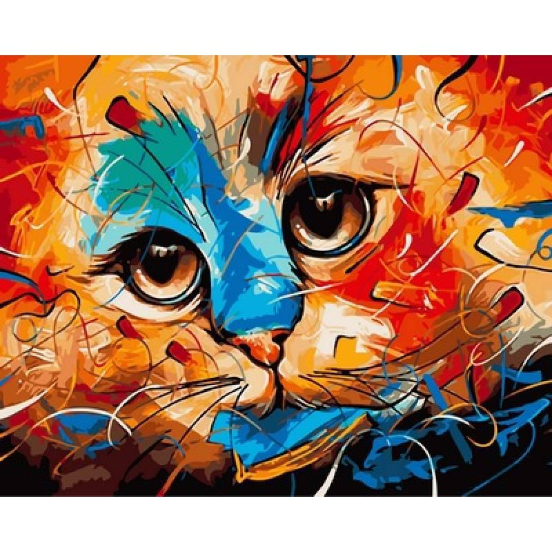 Картина по номерам  Кошка. Худ. Наушад Вахид, 40x50 см., Babylon