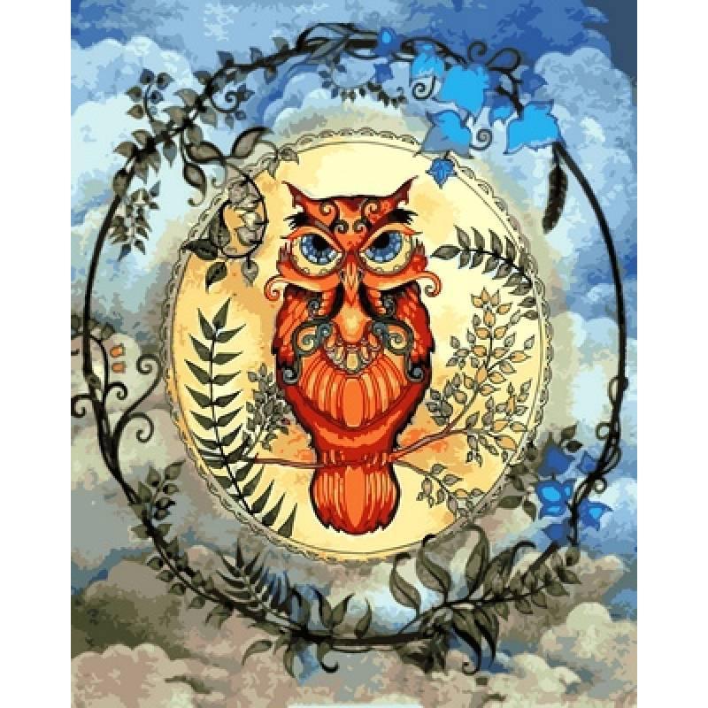 Картина по номерам  Магическая сова. Худ. Джоанна Бэсфорд, 40x50 см., Babylon