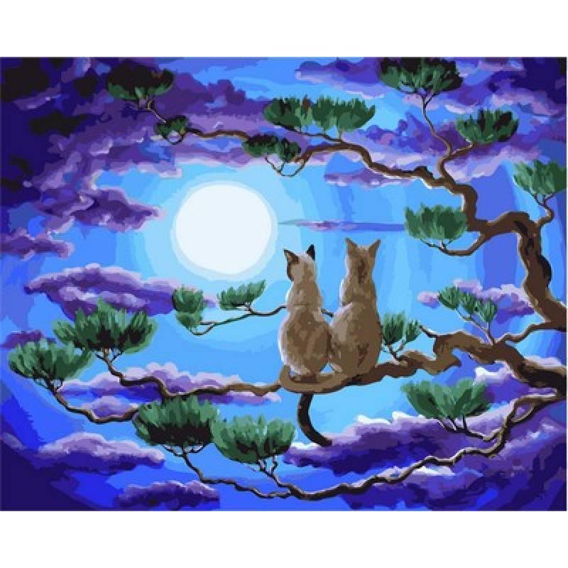 Картина по номерам Пара в верхушках деревьев. Худ. Лаура Айверсон, 40x50 см., Babylon