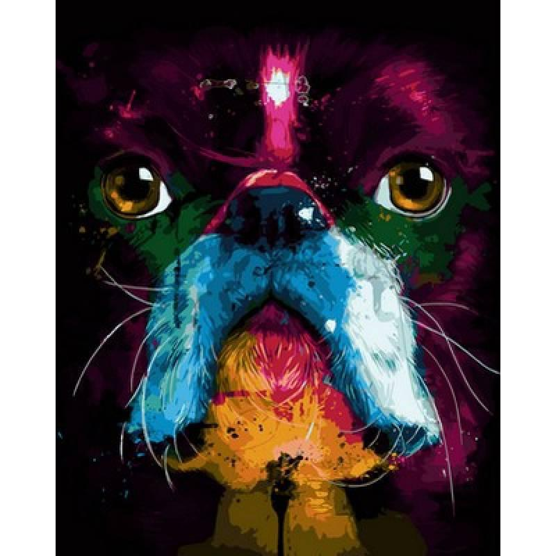 Картина по номерам Собака. Худ.Патрис Мурчиано, 40x50 см., Babylon