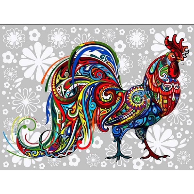 Картина по номерам Цветочный петух, 40x50 см., Babylon