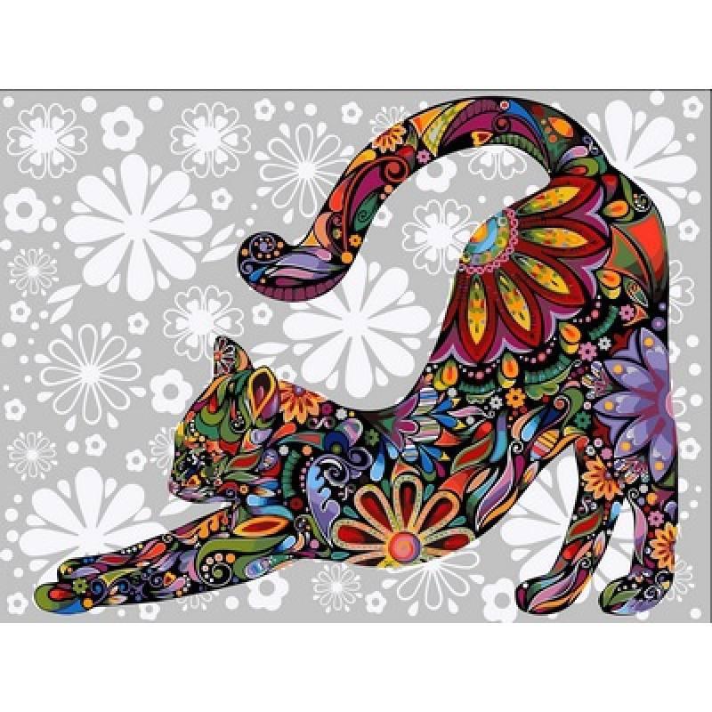 Картина по номерам Цветочный кот, 40x50 см., Babylon