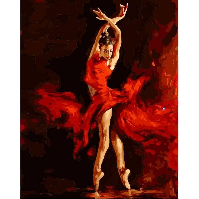 Картина по номерам Танец огня. Худ. Андрей Атрошенко, 40x50 см., Babylon