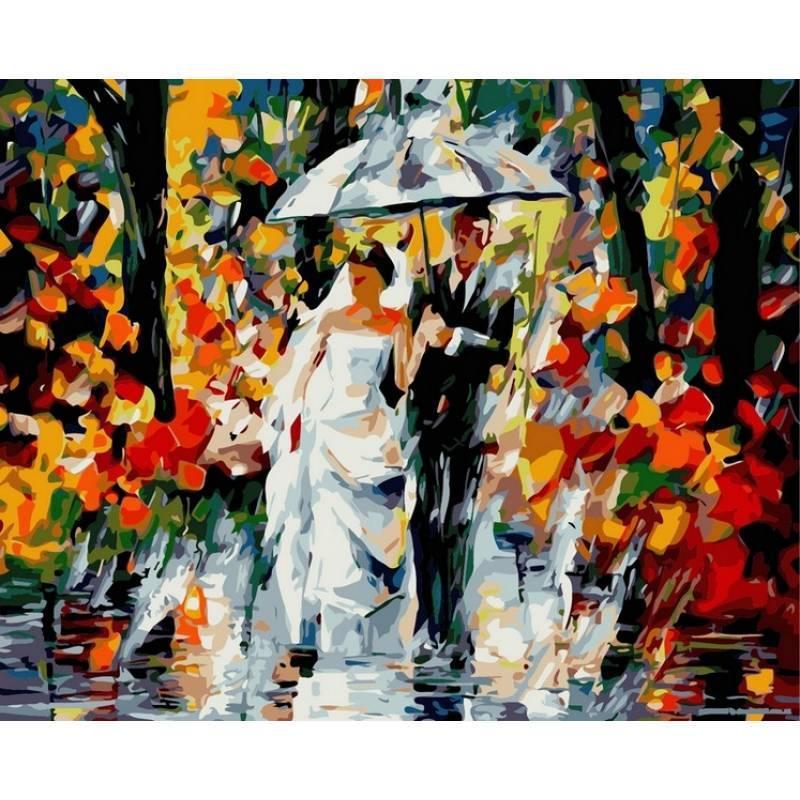 Картина по номерам Свадьба под дождем. Худ. Леонид Афремов, 40x50 см., Babylon