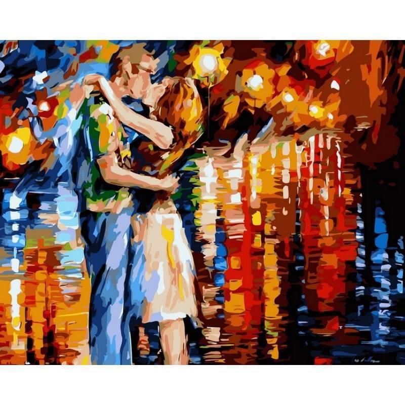 Картина по номерам Прощальный поцелуй. Худ. Леонид Афремов, 40x50 см., Babylon