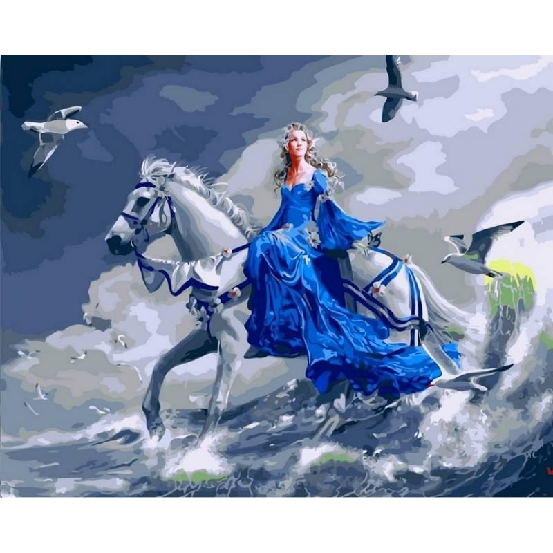 Картина по номерам Девушка на лошади, 40x50 см., Babylon