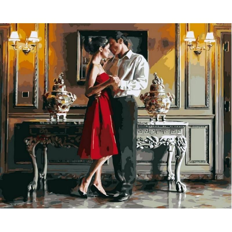 Картина по номерам VP374 Романтический вечер. Худ. Роб Хэфферан, 40x50 см., Babylon