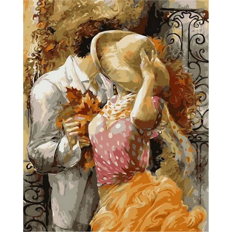 Картина по номерам  Поцелуй на крыльце. Худ. Лена Сотскова, 40x50 см., Babylon