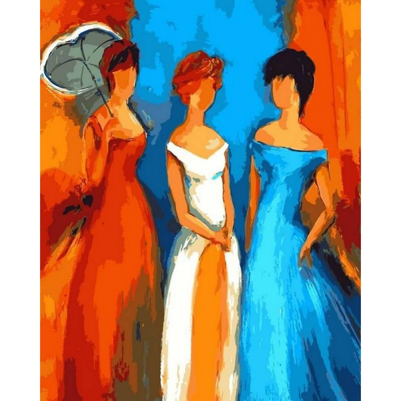 Картина по номерам  Дамы, 40x50 см., Babylon